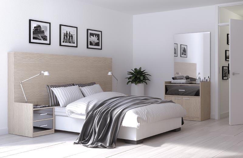 bedombouw met nachtkastjes